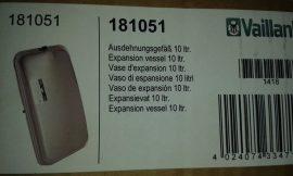 Vaillant Ecotech  kondenzációs  tágulási tartály 10 l.       használt     (bevizsgált)
